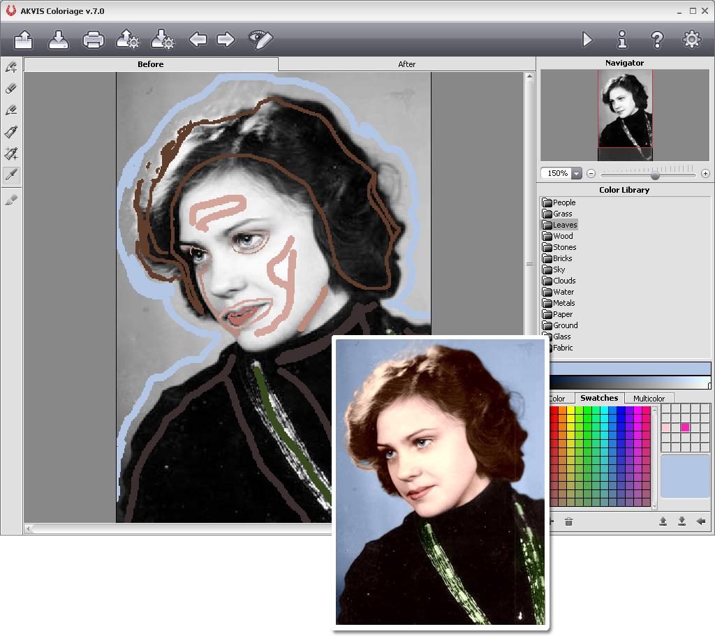 آخر اصدار AKVIS Coloriage 8.0.970.8146 Multilingual برنامج تلوين الصور القديمة و تغيي