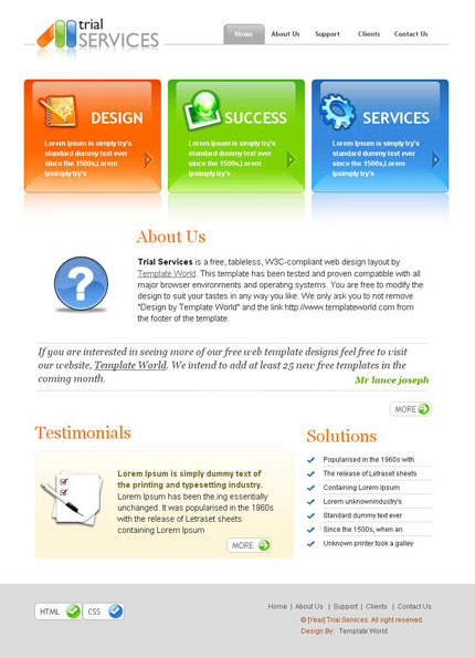 templateworld  trial services Web 2.0 theme 001 + PSD