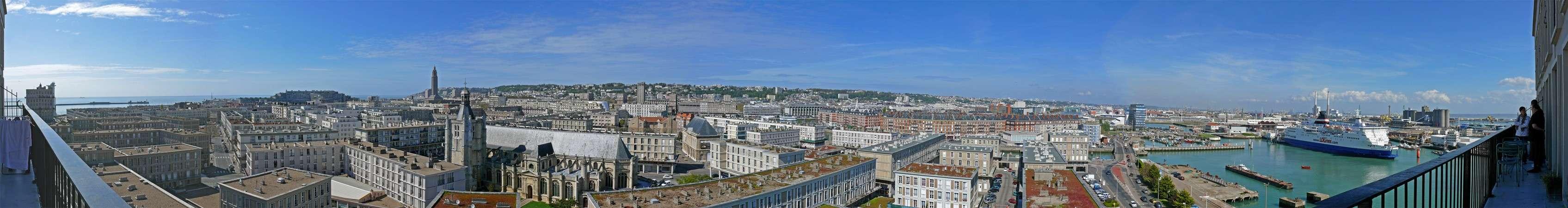 Vue panoramique le havre for Appart hotel evreux