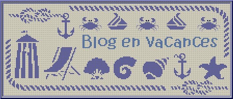 Blog en vacances jusqu 39 au 25 aout grille n 30 la mer point de croix carterie - Grille point de croix mer ...