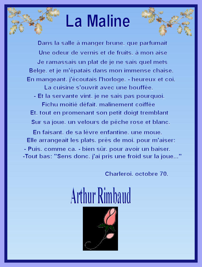 La Maline. Arthur Rimbaud. dans Textes choisis la_mal10