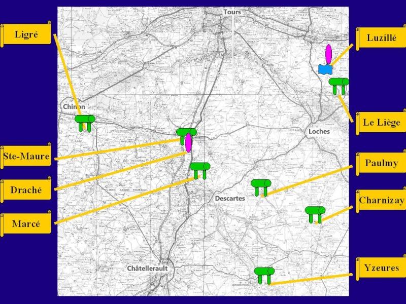 Carte dolmens Sud Tours