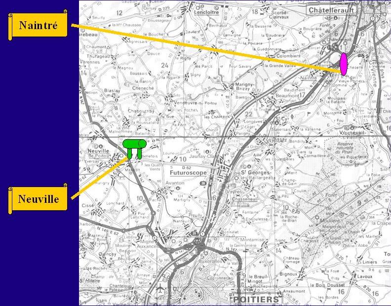 Carte mégalithes Nord Poitiers