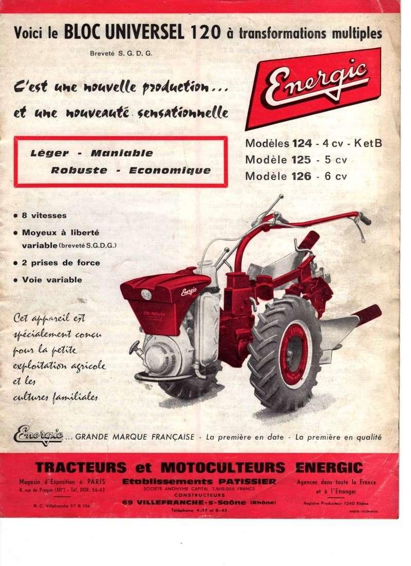 recherche de document pour un motoculteur energic