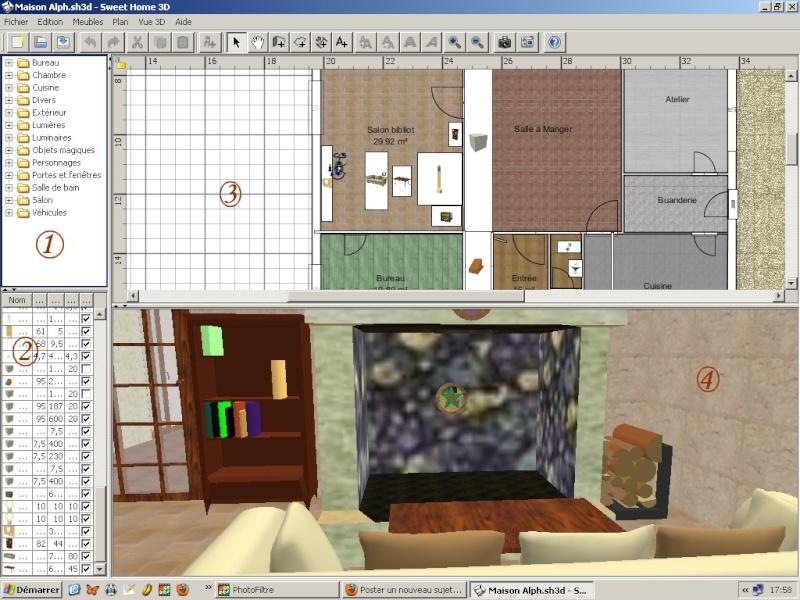 Décors 3D Réalistes Avec Sweet Home 3D Et Les Autres