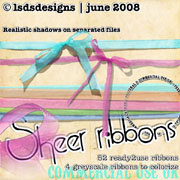 sheer ribbons