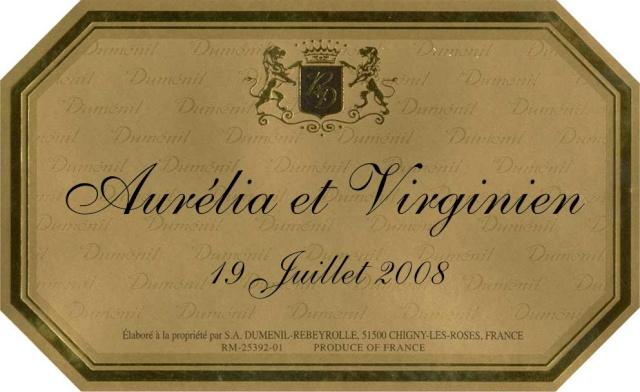Connu etiquette a champagne XP67