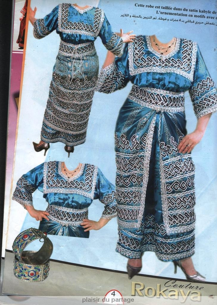patron couture robe kabyle