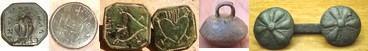 BOUTONS XVIIème - dont Boutons en Tombac, boutons gravés argent ou bronze blanc (cachets d'amour/boutons sceau, ...)