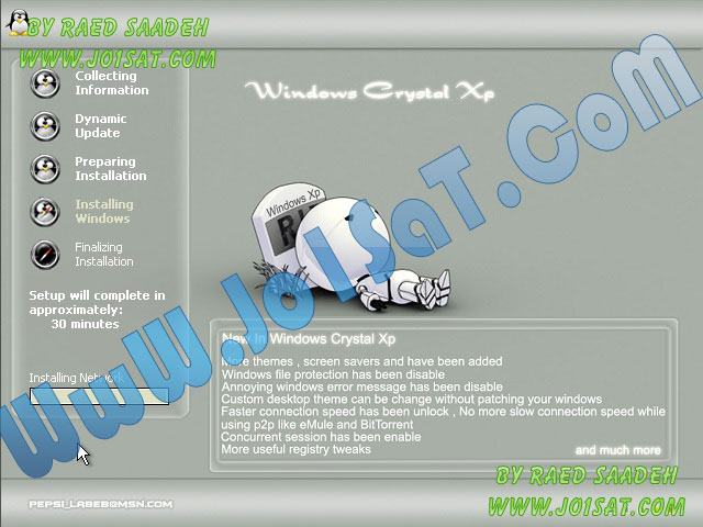 Windows XP Crystal SP3 Full with programes