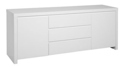 Buffet laqu blanc ikea table de lit for Table a langer largeur 52 cm
