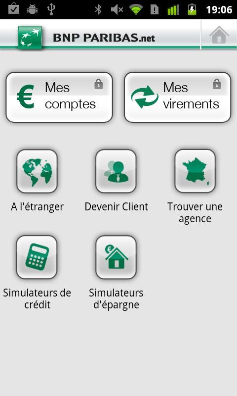 android applications de gestion bancaire banques. Black Bedroom Furniture Sets. Home Design Ideas