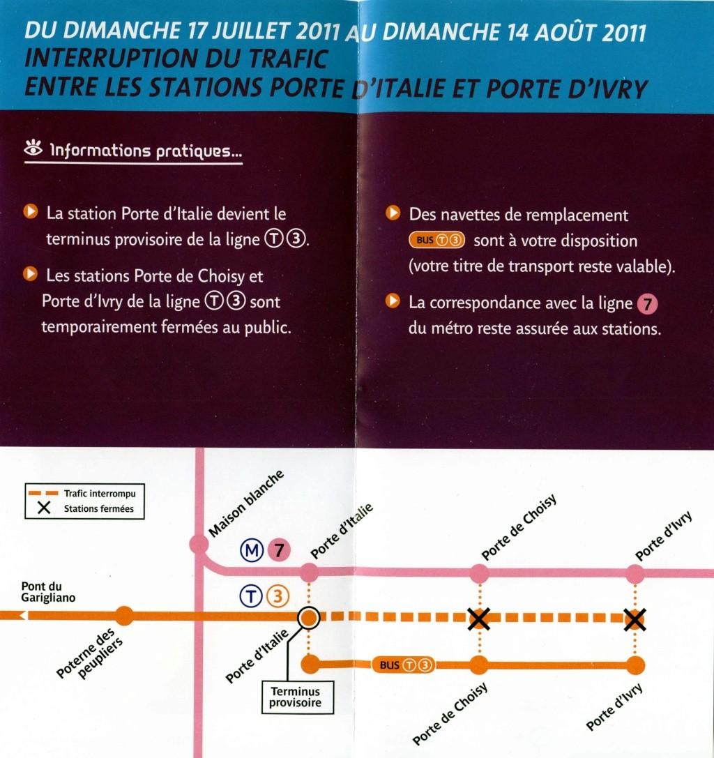 T3 interruption de trafic entre les stations porte d italie et porte d ivry - Station total porte d italie ...