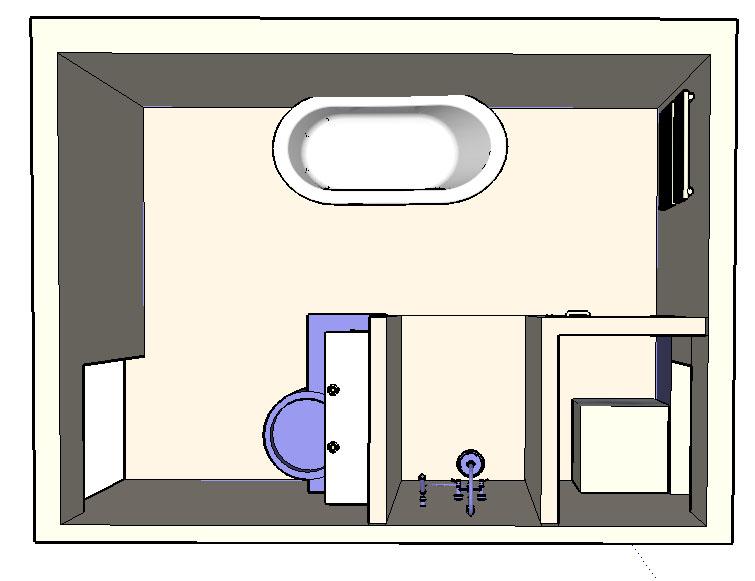 re cabine de douche ou douche carreler fa on quot. Black Bedroom Furniture Sets. Home Design Ideas