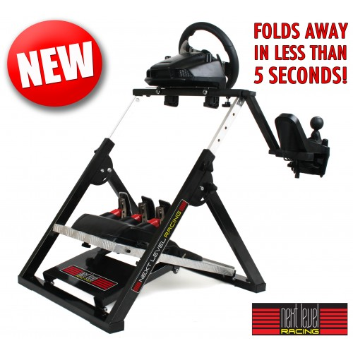 next level racing wheel stand from pagnian imports. Black Bedroom Furniture Sets. Home Design Ideas