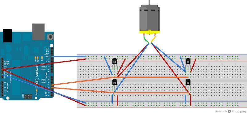 Controle de moteur - Arduino L293D - YouTube