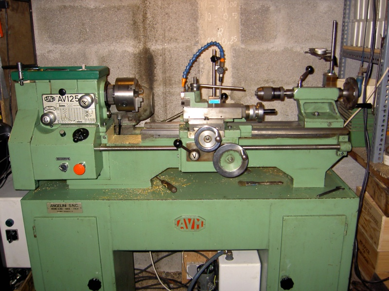Avm av125 rabotti minitor fr7 avm 130 for Piccolo tornio usato