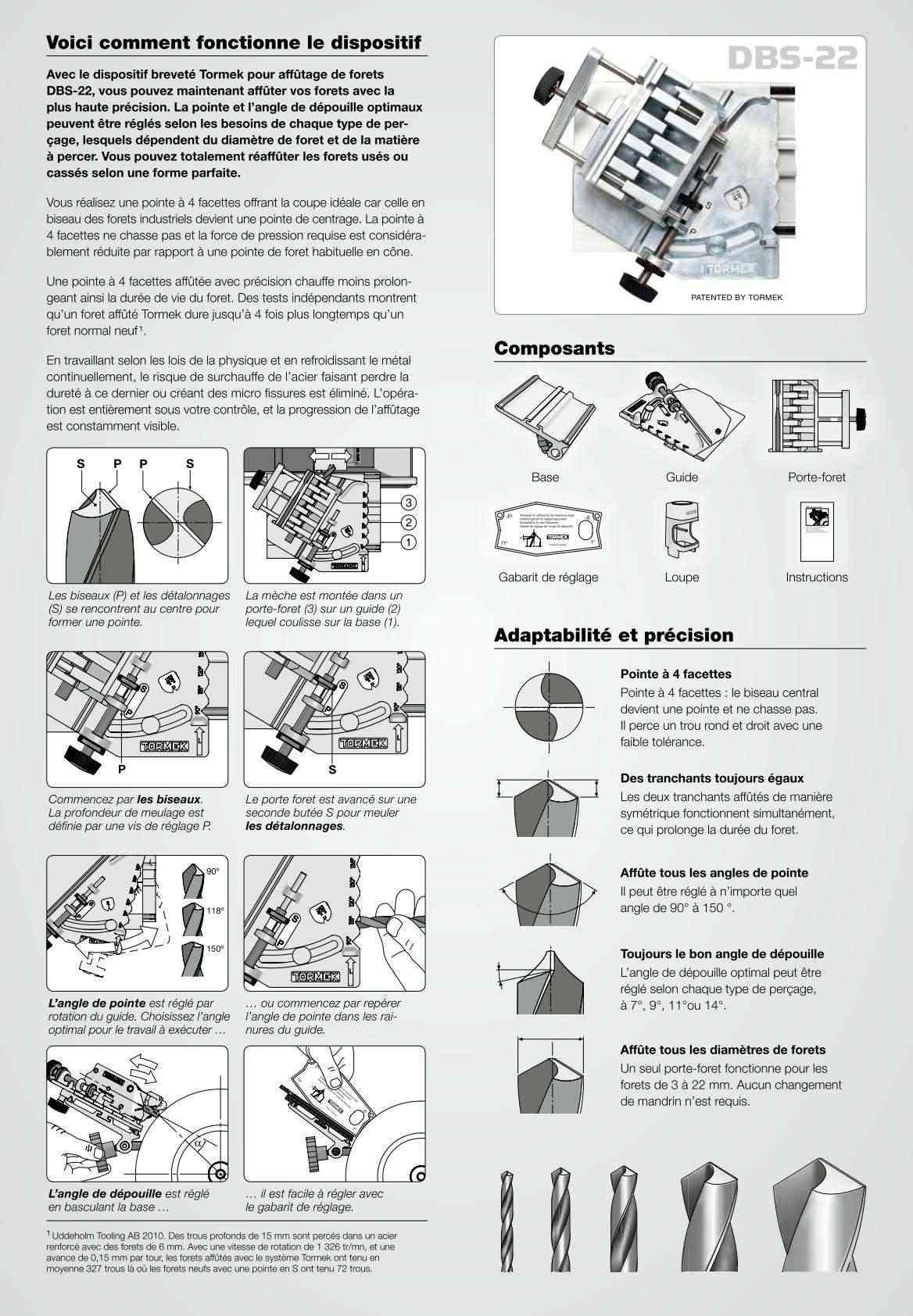 tormek dbs22 dispositif d 39 affutage des forets. Black Bedroom Furniture Sets. Home Design Ideas