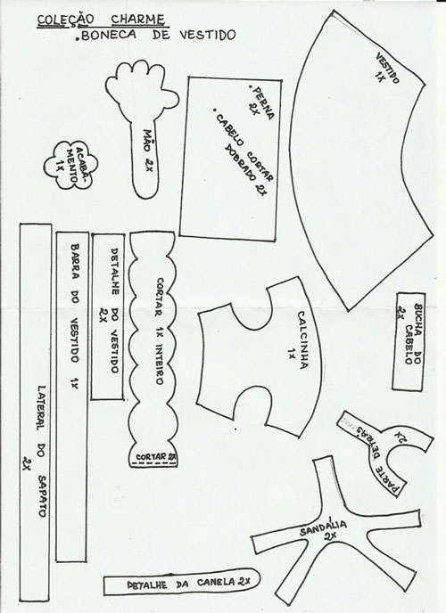 COLECCION 5 MUÑECAS CON MOLDES (de la web) | Invitado