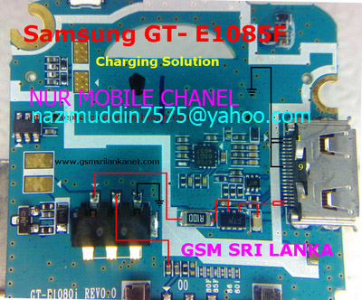 Samsung GT E1085F Charging Solution