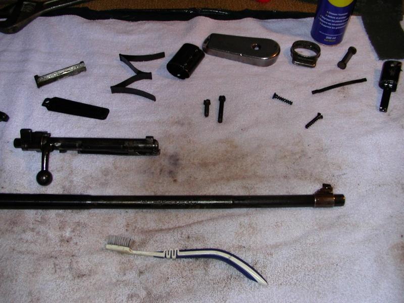 Nettoyage d 39 un karabiner 98 kurz nettoyage de la crosse - Enlever trace de rouille ...