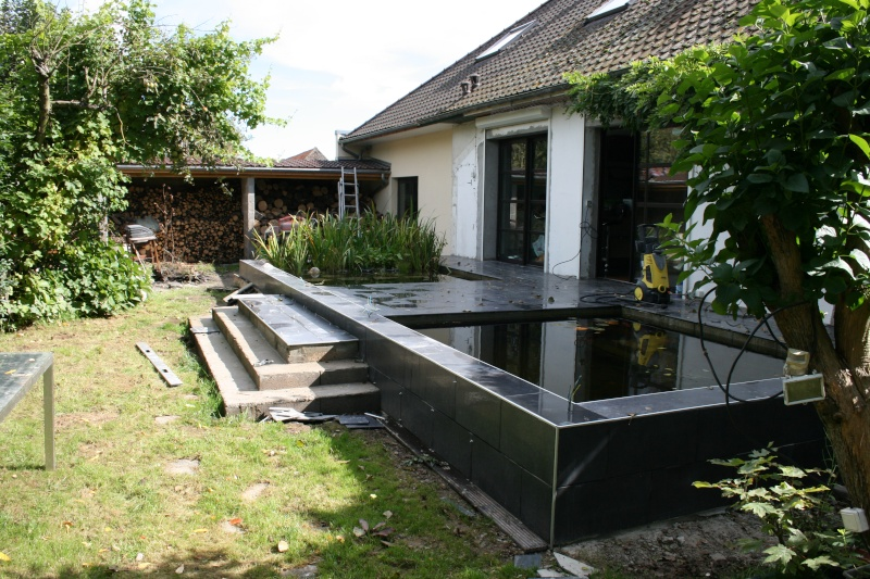 Bassin integr ds une terrasse for Carreler une terrasse exterieure ou demarrer
