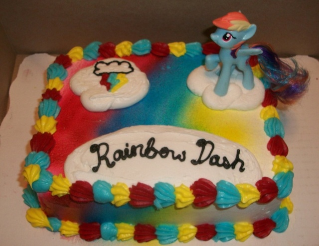 Birthdays for Rainbow dash cake template