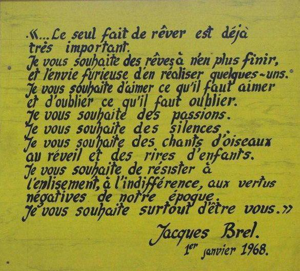 Citations Jacques Brel L'Amour