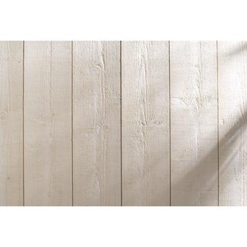 Conseils pour r aliser un mur en bois teint voici le r sultat - Planche bois brut de sciage ...