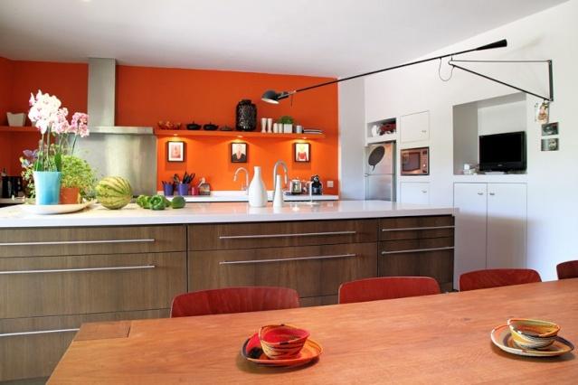 Relooking cuisine style oriental for Cuisine 3d murs erigne