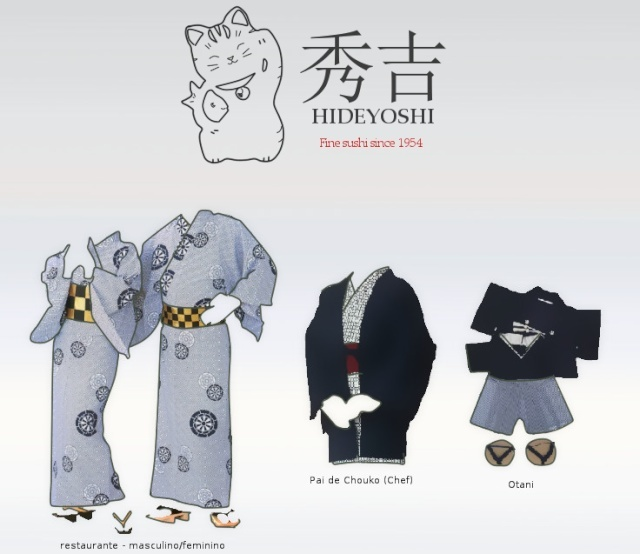 Hideyoshi's sushi uniform